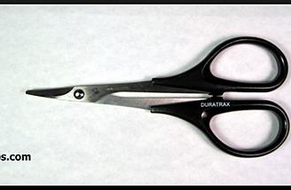 Duratrax curved tip body scissors (item no. DTXR1150).
