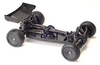 2.5mm aerospace grade lightweight carbon fiber chassis & top deck.