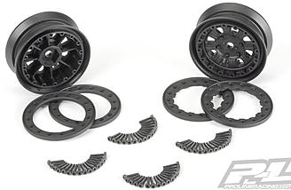 Pro-Line includes all the hardware needed to assemble the bead-loc wheels.