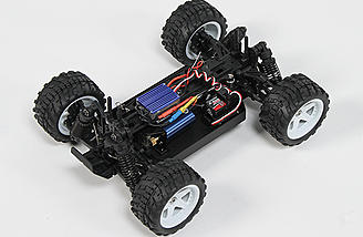 The 1/16-scale Monster Beetle comes equipped with a 25A ESC and 4800Kv brushless motor.