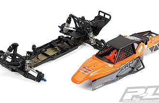 Pro-Line wisely designed the cage of the PRO-2 Performance Buggy Conversion Kit so that it can be removed from the chassis in one single piece.