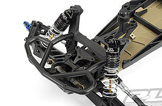 The shock absorbing front bumper is designed to handle frontal collision without transferring the force into the shock tower and it looks scale to boot.