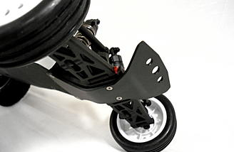 The Pro Chassis Brace shown here and the others are all made from tough nylon.