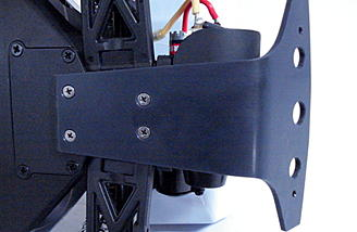 Part skid and part rear bumper for extra chassis protection.