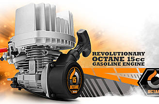 HPI Octane 15cc gasoline engine.