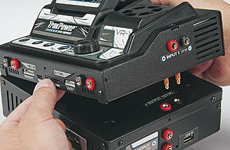 The VR-1 is designed to dock directly onto the DPS Power Supply, freeing up valuable pit space and eliminating the hassle of connecting cables.
