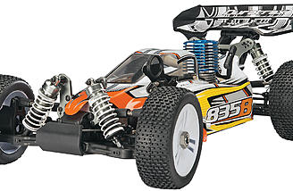 The nitro-powered Duratrax 835B 1/8-scale buggy.