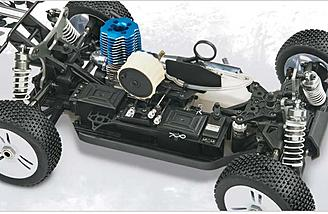 Here is an example of a nitro-powered car.