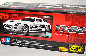 The Tamiya Mercedes-Benz SLS AMG GT3 (TT-02) is an example of a vehicle that comes in kit form and needs to be assembled.