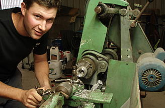 Byron's lathe has become an indispensable tool in his workshop to create his unique builds.
