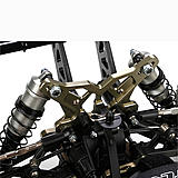 Its racing lineage is apparent with one look of the high-quality components and multiple tuning adjustments that can be made to the chassis.