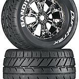 Duratrax Bandito 3.8 Mounted Chrome tires.