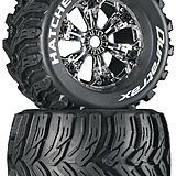 Duratrax Hatchet 3.8 Mounted Chrome tires.