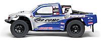 Authentic short course replica racing truck body.
