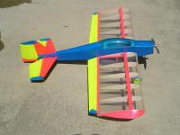 Name: MF3.jpg Views: 659 Size: 77.9 KB Description: Fantastic POWER from the Razor 2500a. It turns the 11x3.8 prop, no prob. CF pushrods used on ailerons only. CF pushrods were a little stiff for the tail section.