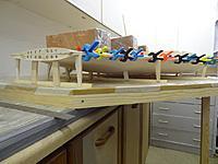 Name: Dsc00823.jpg Views: 261 Size: 119.1 KB Description: Leading edges being glued together, trestles flat on the building board.