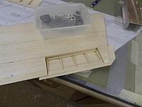 Name: DSC00926.jpg Views: 217 Size: 84.2 KB Description: Build the drag rudder framework on the inside of the sheet.