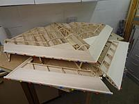 Name: DSC01189.jpg Views: 172 Size: 92.0 KB Description: Adding leadign edge strips to the fuselage and wing panels. Outer edge strips already in place.