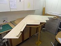 Name: DSC01207.jpg Views: 285 Size: 82.2 KB Description: Airframe almost completed, underside with the trestles removed, this is the first time I have seen it like this and it is definitely looking the part.