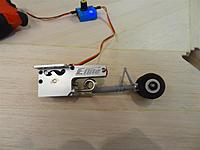Name: DSC01221.jpg Views: 190 Size: 83.0 KB Description: E-Flite retract unit and completed nose leg and wheel up attached to servo tester and battery pack.