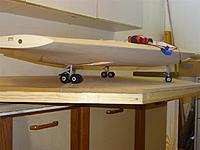 Name: DSC01269.jpg Views: 227 Size: 91.1 KB Description: Fuselage section sat on its wheels for the first time.