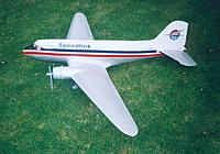 """Name: DC3-3.jpg Views: 52 Size: 171.5 KB Description: Top Flite DC-3, 2 x Enya SS40, 80"""" span. Finished in a frieght scheme from New Zealand"""
