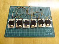 Name: DSC01294.jpg Views: 184 Size: 134.5 KB Description: 4 elevon servos and 2 rudder servos attaches to ply hatches