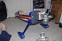 Name: MXS-R build 2 005.jpg Views: 195 Size: 255.5 KB Description: Well it's on wheels. Big plane, small work area but you do what you have to do.