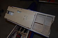 Name: MXS-R build final pics 006.jpg Views: 164 Size: 118.0 KB Description: shot of relief cuts in bottom of hatch/canopy for servos and linkages most of which are covered by Pilot figure.