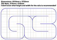 Name: RCP groß.jpg Views: 28 Size: 252.3 KB Description: Dimensions: 6510mm x 3720mm 252 Mats, 310mm x 310mm I dont know what height and width for the rails is recommended!