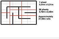 Name: RCP-Tracks.jpg Views: 41 Size: 130.3 KB Description: DIY race track out of puzzle mats. Cost about 100 Euro. One sheet is 31cm x 31cm. Race track is 372cm x 248cm.