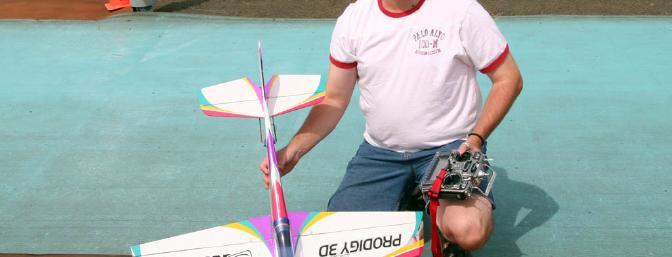 Jim Bourke with his Hobby Lobby / Fliton Prodigy 3D ARF.