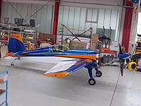 The Extra factory in Germany just sent me some nice pics of my new Extra 330SC.  It will have to be disassembled and crated up to be sent to me so I won't be able to fly it until April, but it looks great!  There are no logos on it yet but that will happen shortly after I take delivery...