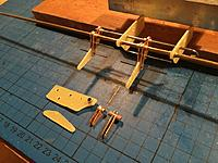 Name: Billede 10-01-2019 23.09.31.jpg Views: 45 Size: 238.8 KB Description: After some more similar work with fiberglass board it could finally be assembled like this. Here is the flaps down position. There are three of these hinges on each wing half/flap.