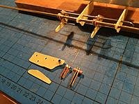 Name: Billede 10-01-2019 23.10.42.jpg Views: 42 Size: 235.4 KB Description: Flaps up. The rear 2 mm piano wire will be substituted with 2 mm screws inserted in the FG pieces. The front 3 mm brass tube will be the one that drives the flap, using a fixed arm to push the flap out while the rest rotates freely.