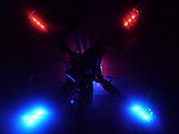 Name: quadcopter14.jpg Views: 167 Size: 113.3 KB Description: Test der LEDs im Dunkeln.