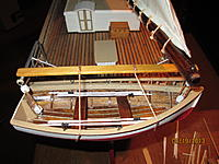 Name: yawl boat finished.jpg Views: 49 Size: 9.7 KB Description: painted outboard...stained inboard