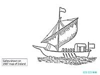 Name: galley Grania image from 1567.jpg Views: 23 Size: 50.0 KB Description: a 1567 image of a galley of the West Coast of Ireland