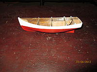 Name: More yawl boat 002.jpg Views: 152 Size: 168.2 KB Description: cut away from the forms.  Now, I need to detail the interior and hoist her on the davits.