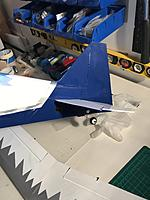 Name: 20180602_184340743_iOS.jpg Views: 11 Size: 484.1 KB Description: Rudder glued and tail wheel installed.