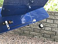 Name: 20180611_164707991_iOS.jpg Views: 13 Size: 2.03 MB Description: Rudder linkage with Emax servo. Screws not tightened yet...