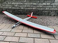 Name: 20201127_104616431_iOS.jpg Views: 31 Size: 6.13 MB Description: Ready plane, with AUW under 1kg with 1000mAh 3S battery.