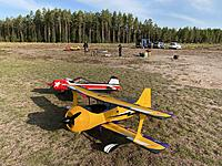 Name: 20200920_071900175_iOS.jpg Views: 47 Size: 6.16 MB Description: The big rebuilds from 2019. QQ Pitts Python and my Yak-55M. The Pitts turned out as a real stunner!