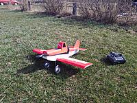 Name: P_20140427_105501.jpg Views: 127 Size: 1.31 MB Description: FT Duster doing maiden. Some motor angle adjustments etc. required afterwards.