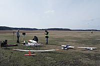 Name: SAM_5810.jpg Views: 98 Size: 560.6 KB Description: Early spring weekend with some FPV & glider activity going on. Slick looks really small compared to that 4m glider. :)