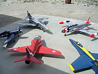 """Name: P1030610.jpg Views: 290 Size: 175.0 KB Description: The other planes are saying """"hey welcome to the fleet Mr. T-33"""" Word has it we are all going to Vegas in October"""""""