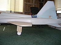 """Name: P1050266.jpg Views: 284 Size: 233.6 KB Description: Struts compress about 1/4"""" under the simulated weight of the fans and ESC. Full stru travel looks like about 1""""  Should leave about 3/4"""" of travel to absorb landings."""