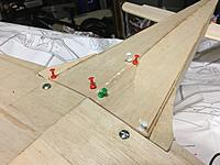 Ive glued in 5mm balsa to transition from wing to fuse