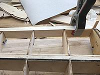 I added 3mm plywood shear plates to the leading edge between each of R67, R6/5 and R5/4