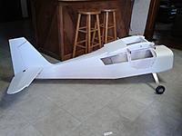 Name: 20190702_160431.jpg Views: 26 Size: 128.8 KB Description: all covered .. white solartex , airframe weight  minus  engine 17.5 lb.